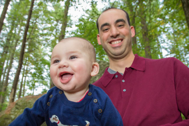 Family Photo Carlisle MA Dad and laughing baby