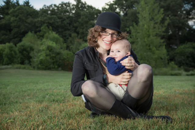 Family Photo in Carlisle MA Mom and baby